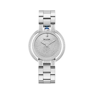 Bulova Watches Ladies Rubaiyat Bracelet with Diamond Pave Dial- Couture Edition