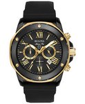 Bulova Watches Mens Strap - Black Company Watch