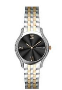Wittnauer Ladies Bracelet from the Black Tie Collection, Diamond Case- Gold