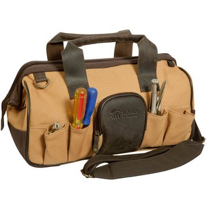 Leather and Canvas Dry Lake Tool Bag