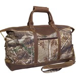 Realtree Camo Leather Duffel