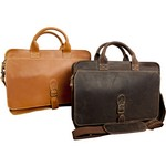 Texas Canyon Leather Briefcase