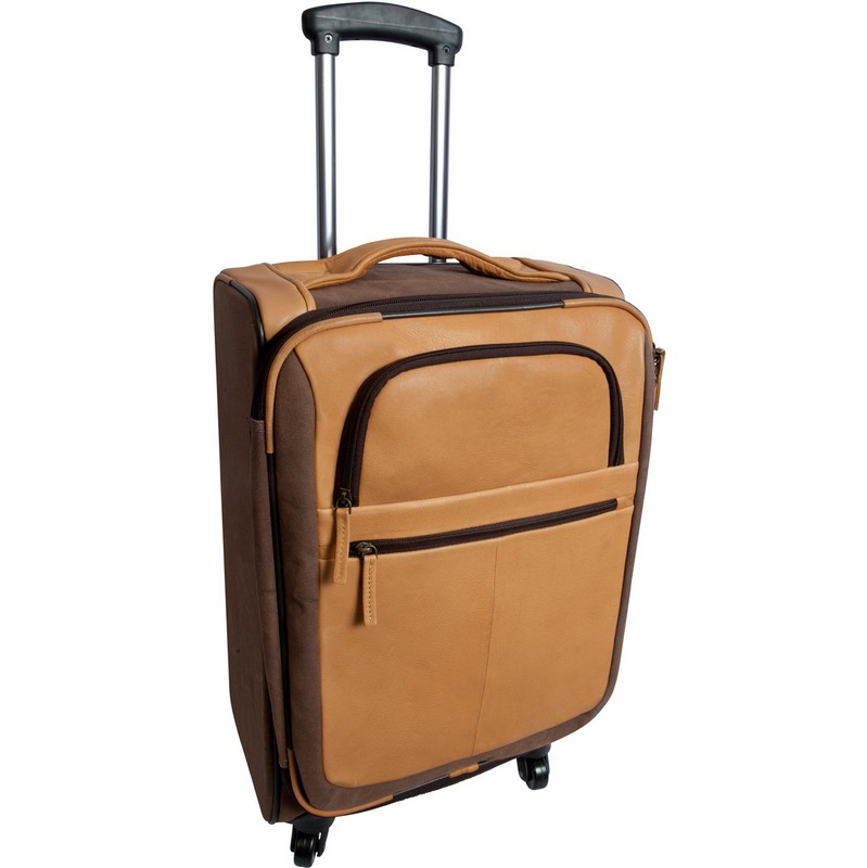 Switzer Canyon Leather Rolling Carry-On Custom Leather Luggage