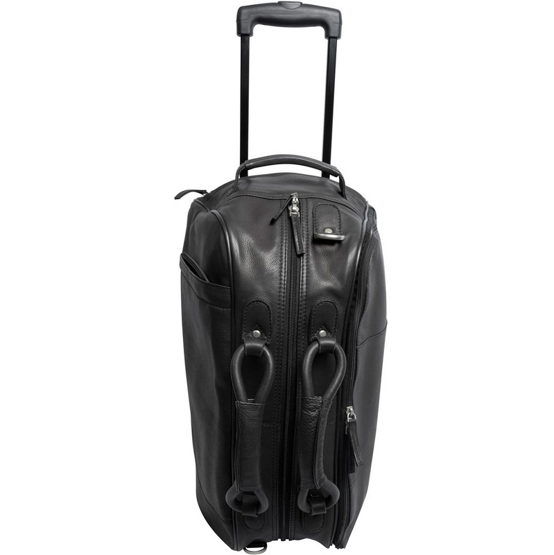 Wildcat Canyon Leather Rolling Duffel Custom Leather Luggage