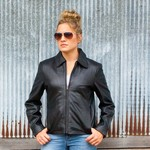 Waist Length Custom Leather Jacket Custom Ladies Leather Jacket