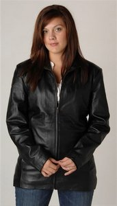 Ladies Lambskin Leather Jacket Sun Valley