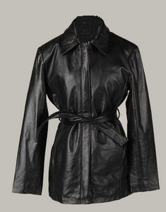 Brandy Wine Creek Women's Belted Leather Jacket (Discontinued)