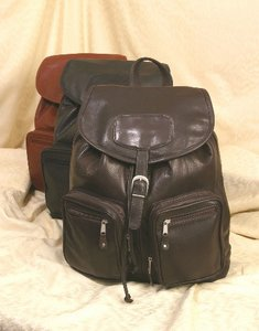 Computer Leather Backpack