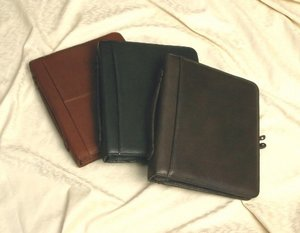 Custom Leather Three-ring Binder