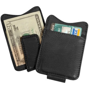 Magnetic Custom Leather Money Clip wallet