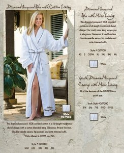 Diamond Jacquard Custom Robe with Minx Lining