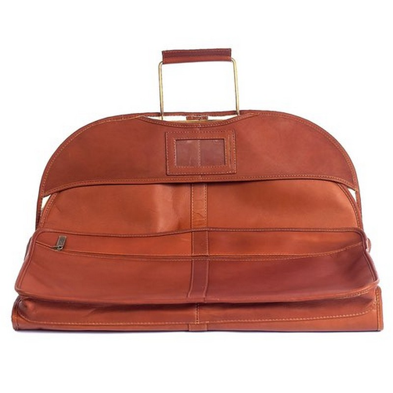 Ultra Leather Garment Carrier Custom Leather Luggage
