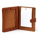 Leather Tablet Notebook with Closure