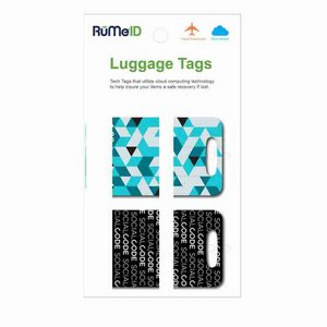 RuMeID Luggage Tag Set with Retail Packaging Custom