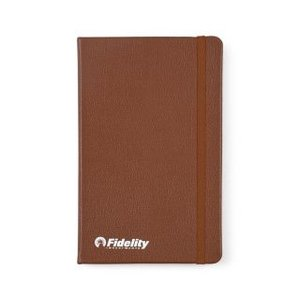 Moleskine  Leather Ruled Large Notebook Sienna Brown