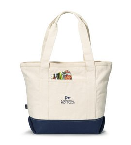 Newport Cotton Zippered Tote - Navy