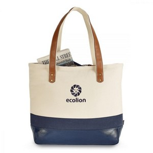 Kinsley Cotton Tote Navy