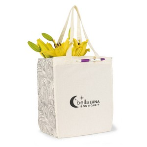 Chelsea Cotton Market Tote Natural/Black