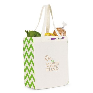 Chelsea Cotton Market Tote Natural/Apple Green