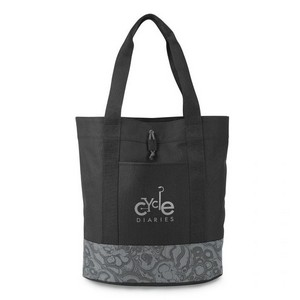 Trinity Fashion Tote Black/ Seattle Gray Pattern