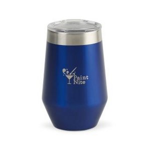 Aviana  Vine Double Wall Stainless Wine Tumbler - 12 Oz. Royal Bl