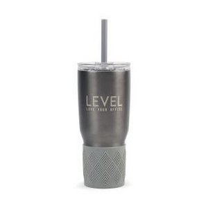 Aviana  Midas Double Wall Stainless Tumbler with Grip - 24 Oz. Ch