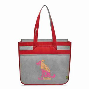 Sedona Laminated Shopper Red/Grey