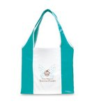 Finale Foldaway Shopper Turquoise\White