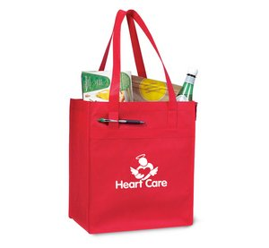 Deluxe Grocery Reusable Shopping Bag - Red