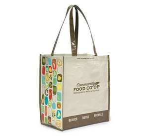 Laminated 100pct Recycled Reusable Shopping Bag - Natural/Brown