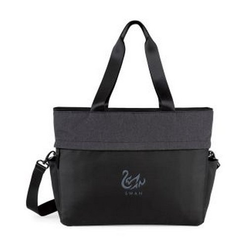 Life in Motion  All Day Deluxe Computer Tote Black/Charcoal Heath custom messenger bag
