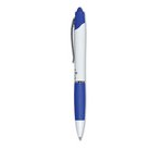 Zebra Z Grip Max Retractable Ballpoint White Barrel Blue