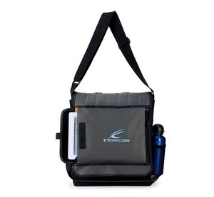 Impact Vertical Computer Laptop Messenger Bag - Dark Grey