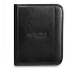 Deluxe Leather Wired-E Padfolio Black