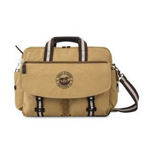 Heritage Supply  Ridge Cotton Computer Messenger Bag Dune