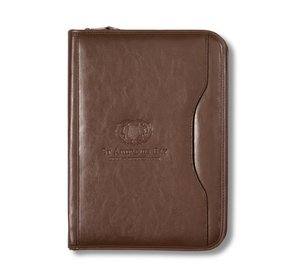 Deluxe Executive Vintage Leather Padfolio - Brown