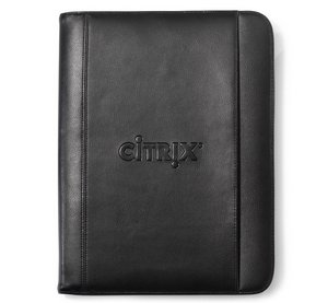 Travis & Wells Leather Padfolio - Black