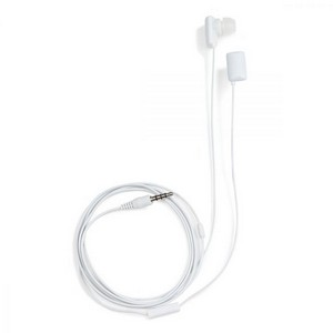 Wired Earbuds with Mic White