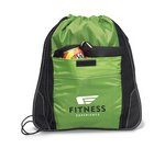 Elite Sport Cinchpack with Insulated Pocket Apple Green