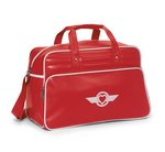 Vintage Weekender Bag - Santa Fe Red/White