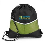 Chevron Sport Cinchpack Apple Green