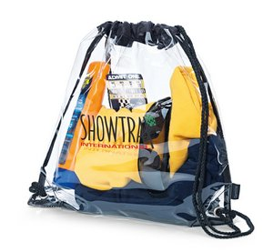 Event Cinchpack Clear Bag - PVC Bag - Meets NFL Guidelines