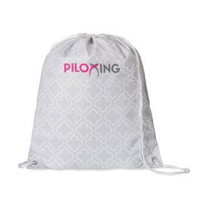 Riley Patterned Cinchpack Light Grey Moroccan Pattern