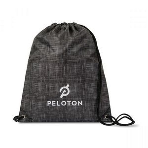 Riley Patterned Cinchpack Charcoal Heather Pattern