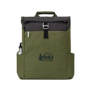 Charlie Cotton Computer Backpack Deep Forest Green
