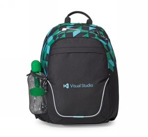 Mission Backpack Black/Blue/Green Pattern