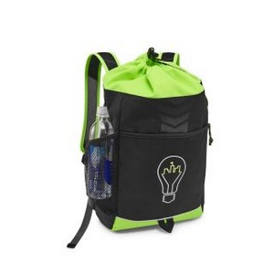 Riptide Drawstring Backpack Electric Lemon