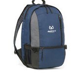 McKinley Computer Backpack Navy Blue & Heather Grey