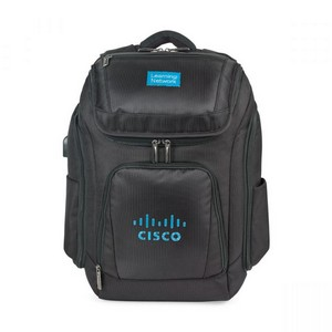Travis & Wells  Velocity Charging Computer Backpack Black