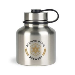 Dakota Stainless Growler - 37 Oz. Stainless Steel